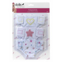 A set of 3 diapers