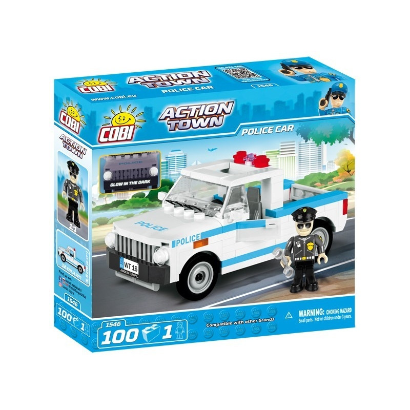 Blocks Action Town 100 elements - Police car