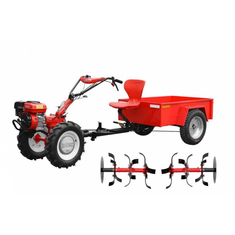 Aiatraktor/mullafrees järelkäruga HECHT 7100 SET