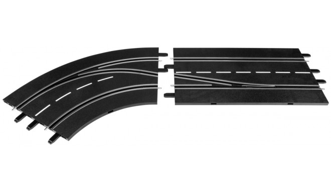 Carrera Digital 132 Lane Change Curve - left, in to out  30362
