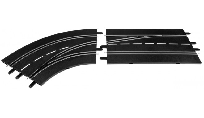 Carrera Digital 132 Lane Change Curve - left, out to in  30363