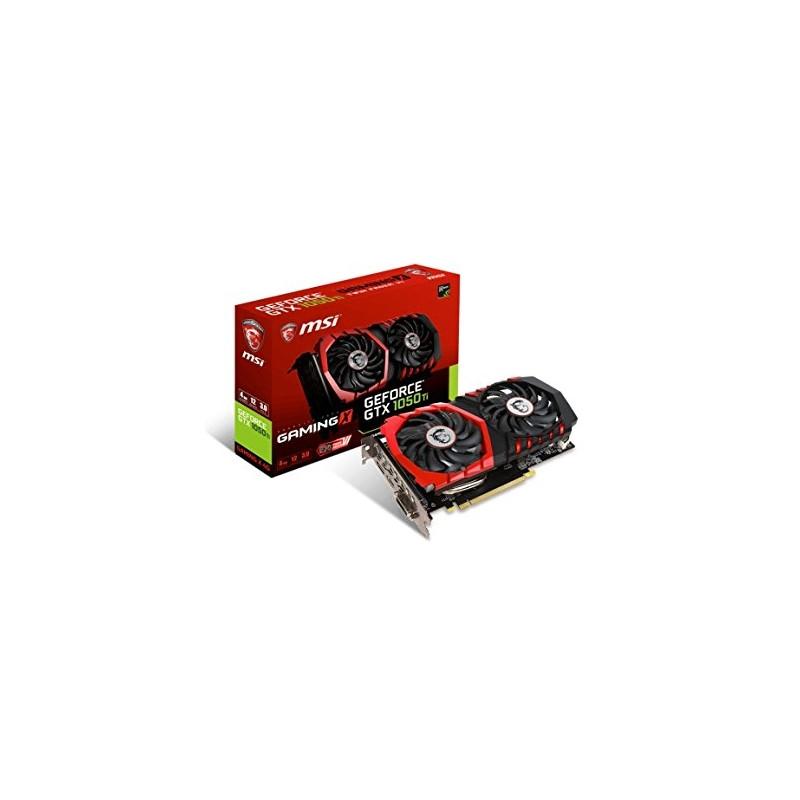 MSI graphics card GeForce GTX 1050 Ti Gaming X 4G 4GB HDMI DP DVI