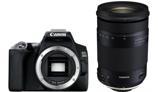 Canon EOS 250D + Tamron 18-400мм, черный