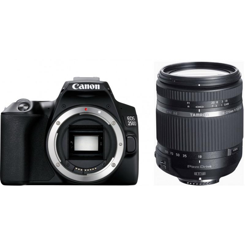 Canon EOS 250D + Tamron 18-270mm PZD TS, black