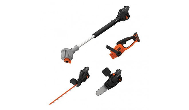 Black+Decker 4-in-1 cordless hedge. BCASK861D-QW - 18 V / 2.0 Ah Li-Ion, 45 cm blade length