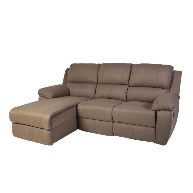 Corner sofa recliner BERKLEY LC, 216x93/165xH100cm, cover material,  polyester fabric, color: beige