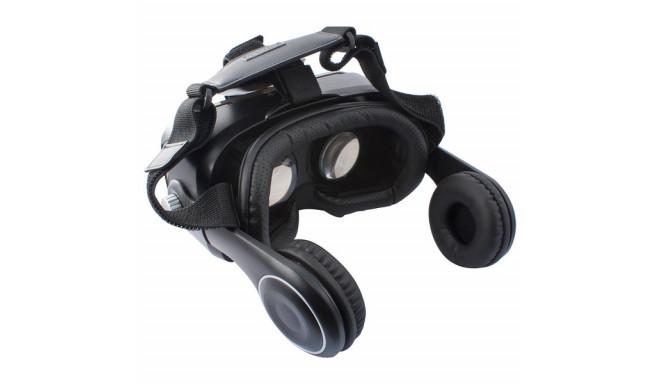 Virtuaalreaalsuse Prillid Kõrvaklappidega KSIX Must
