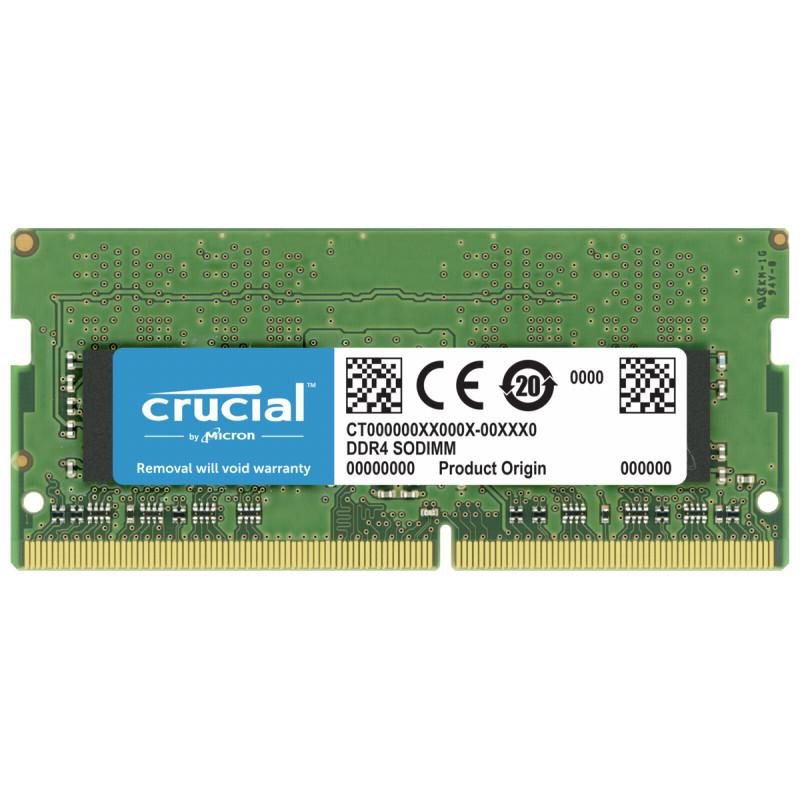 Crucial 4GB DDR4 3200 MT/s SODIMM 260pin SR x16 unbuffered
