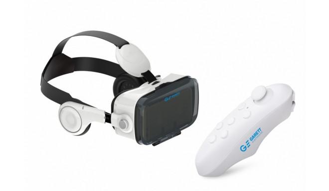 Garett virtuaalreaalsusprillid 3D VR4 + juhtpult, valge