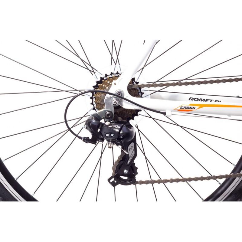Maastikujalgratas meestele 19 M ROMET ORKAN M valge-oranž