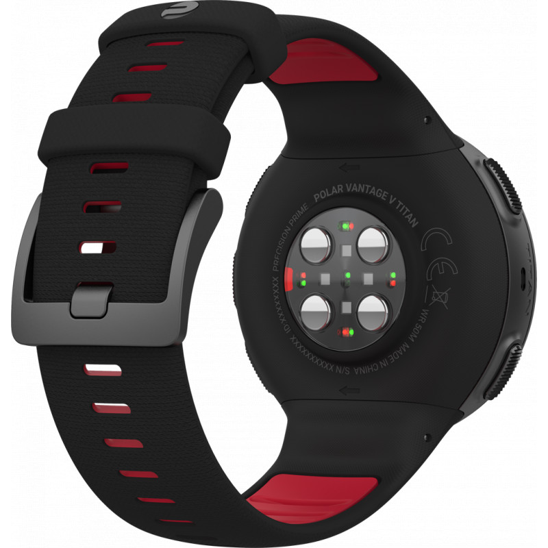 Polar Vantage V Titan M/L, Black/red - Fitness Watches - Photopoint
