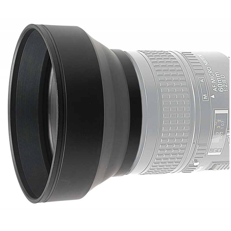 Kaiser Lens Hood 3 in 1   46 mm foldable,for 28 to 200 mm lenses