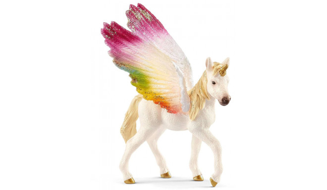 Schleich toy figure Winged Rainbow Unicorn foal (70577)