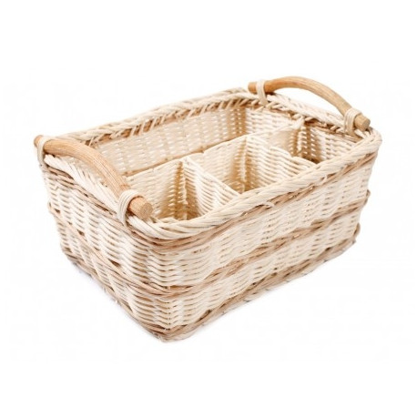 4c9ed596318 Rattan basket with compartments 23x18x14h cm