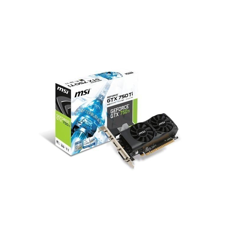 MSI GeForce GTX 750 Ti, 2GB GDDR5 (128 Bit), HDMI, DVI, D-Sub