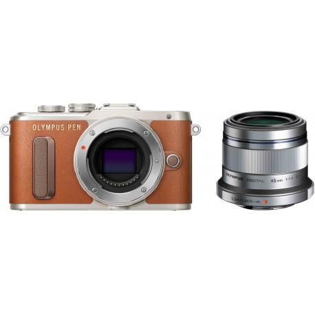 Olympus PEN E-PL8 + 45mm f/1.8, pruun/hõbedane