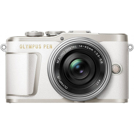 Olympus PEN E-PL9 + 14-42mm EZ Kit, valge/hõbe