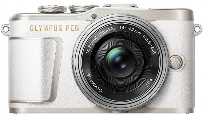 Olympus PEN E-PL9 + 14-42 мм EZ Kit, белый/серебряный