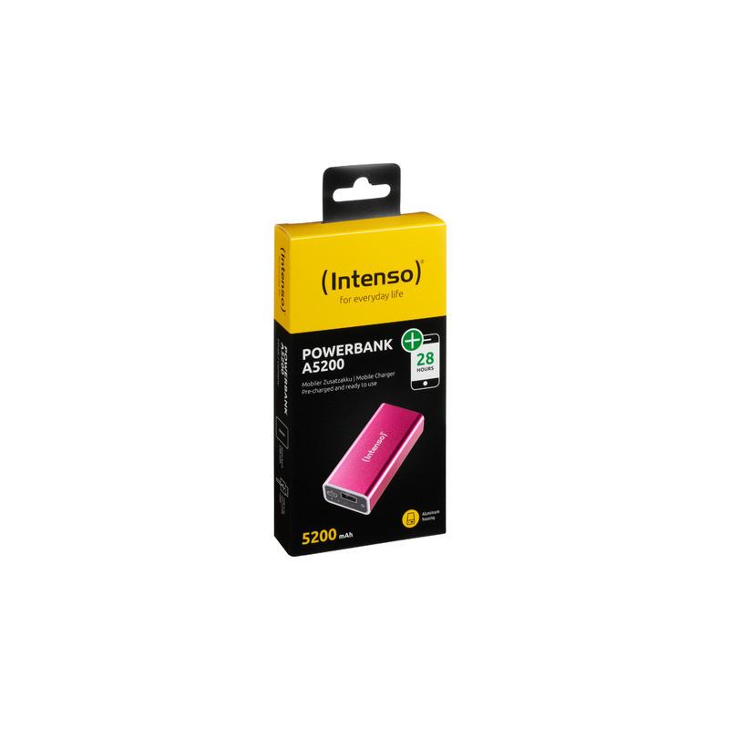 Intenso akupank A5200 5200mAh USB/microUSB, roosa