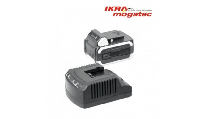 """A charger for a 40 V """"Ikra"""" battery"""