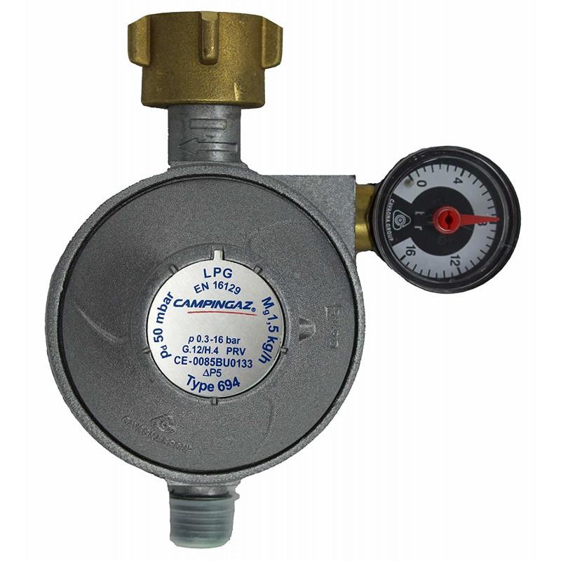 Campingaz Universal Gas-safety regulator 50 mbar, pressure regulator(1.5 kg / h)