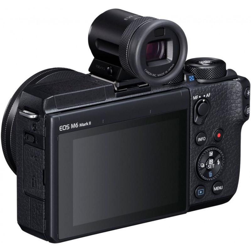 Canon EOS M6 Mark II + 15-45mm IS STM + pildiotsija, must
