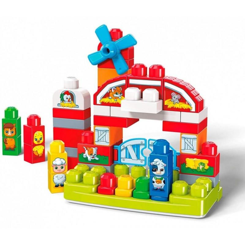 Blocks Set MATTEL Mega Bloks Building Basics Muzyczna Farma GCT50 (From 12 months)