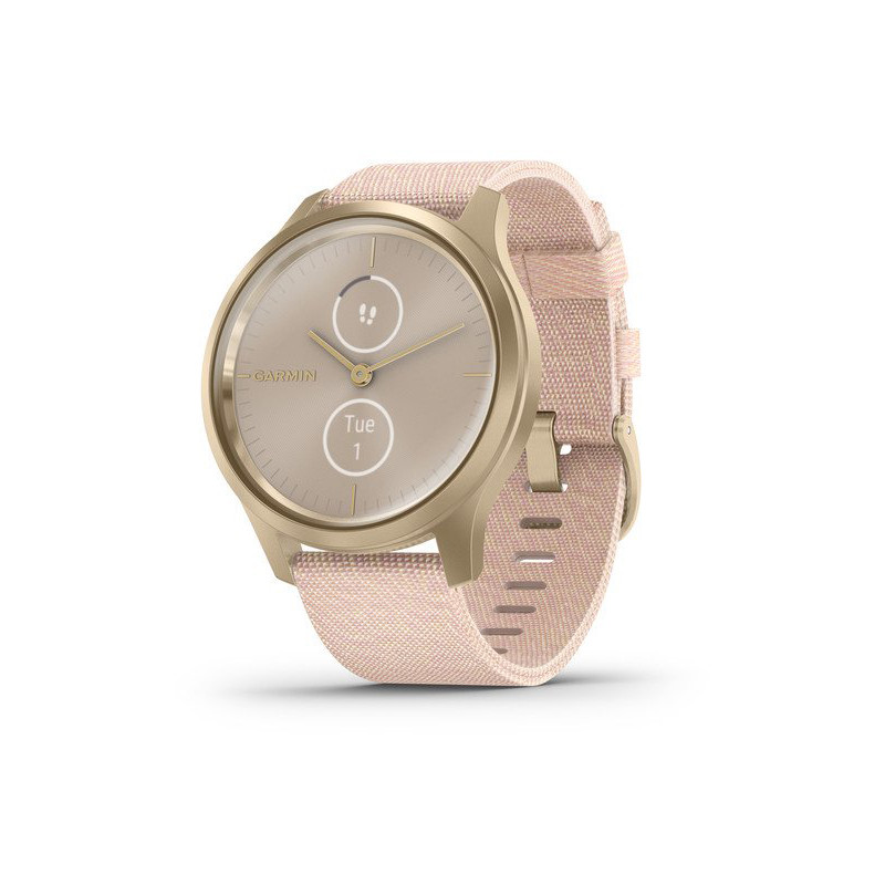 Garmin vivomove Style Woven Band, light gold/blush pink