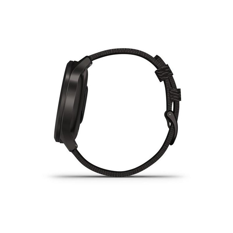 Garmin vivomove Style S/E Woven Band, graphite/black pepper