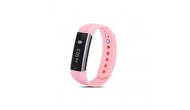 Heart rate monitor smartband, pink