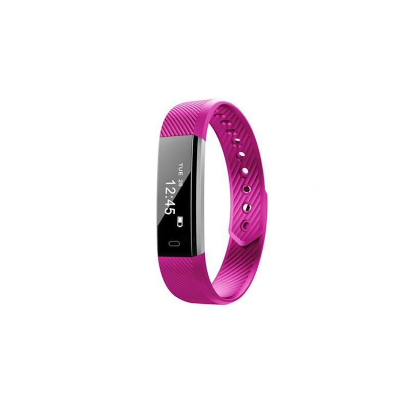 Heart rate monitor smartband, purple