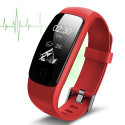 Heart rate monitor smartband, red