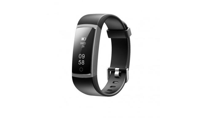 Heart rate monitor smartband, black