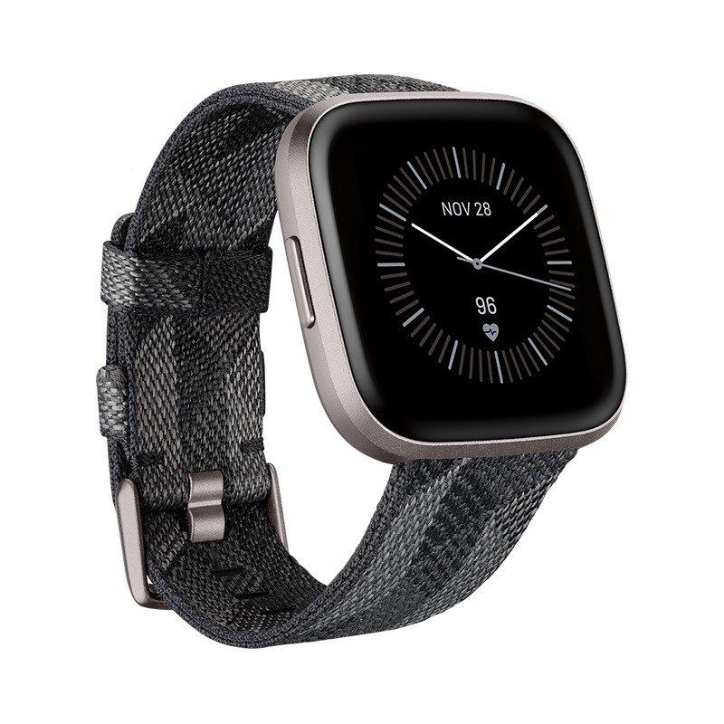 Fitbit Versa 2 Special Edition, smoke woven/mist grey