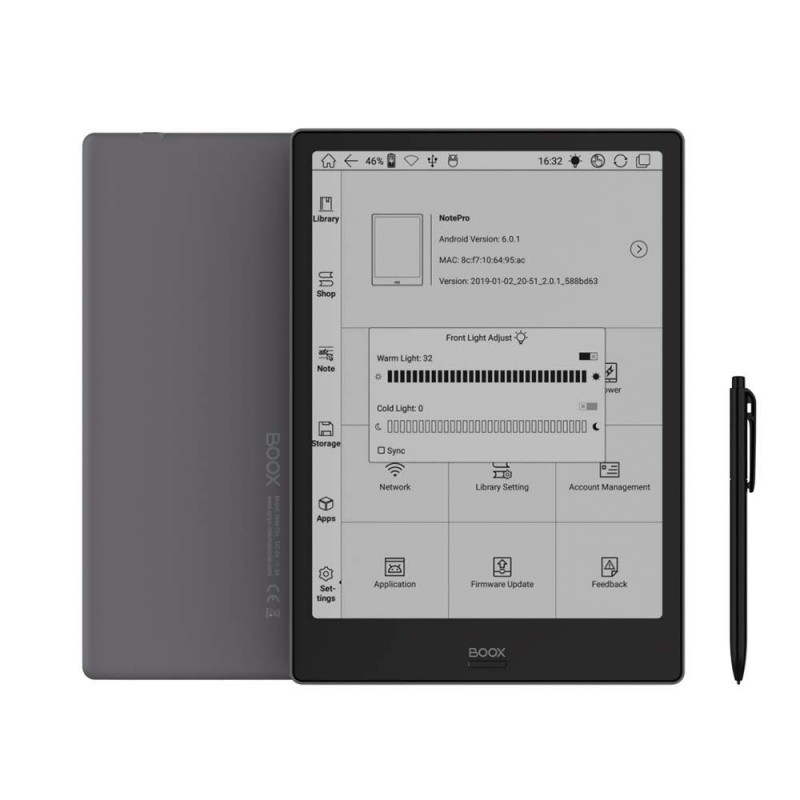 "Reader E-book ONYX Boox Note Pro Gray (10,3"")"