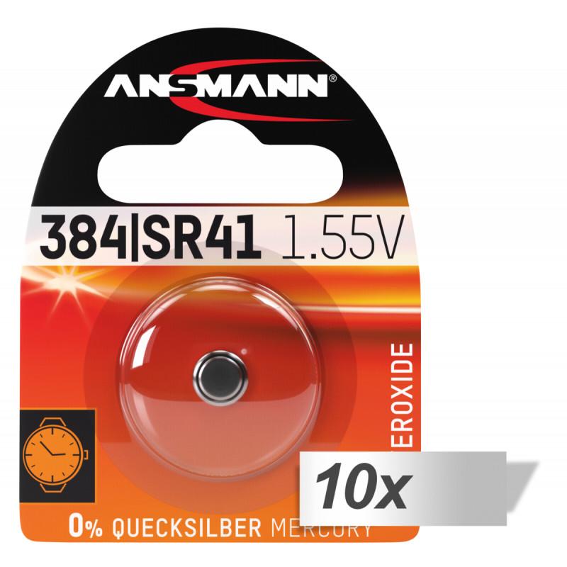 10x1 Ansmann 384 392 Silveroxid SR41