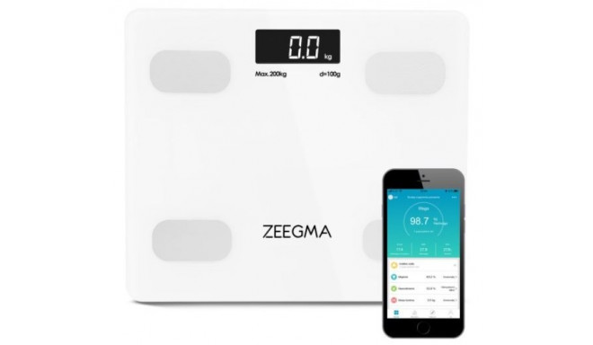 Analytical bathroom scale with aplication 17in1 white