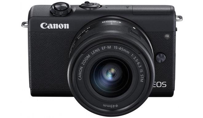 Canon EOS M200 + EF-M 15-45 мм IS STM, черный