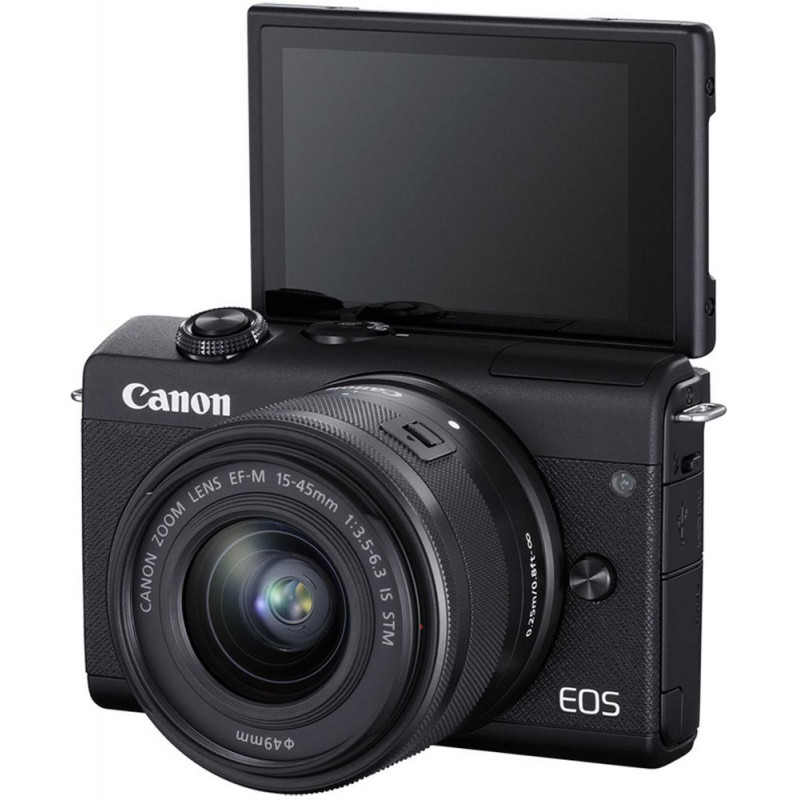 Canon EOS M200 + EF-M 15-45mm + 55-200mm IS STM, must