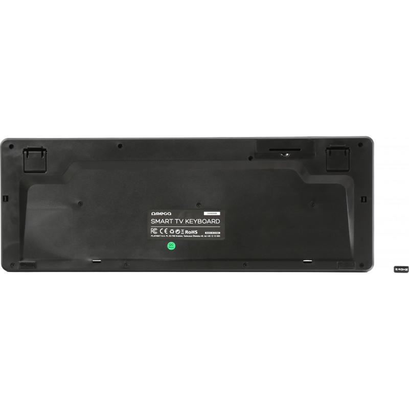 Omega Bluetooth klaviatuur US SmartTV OKB004B, must (43666)