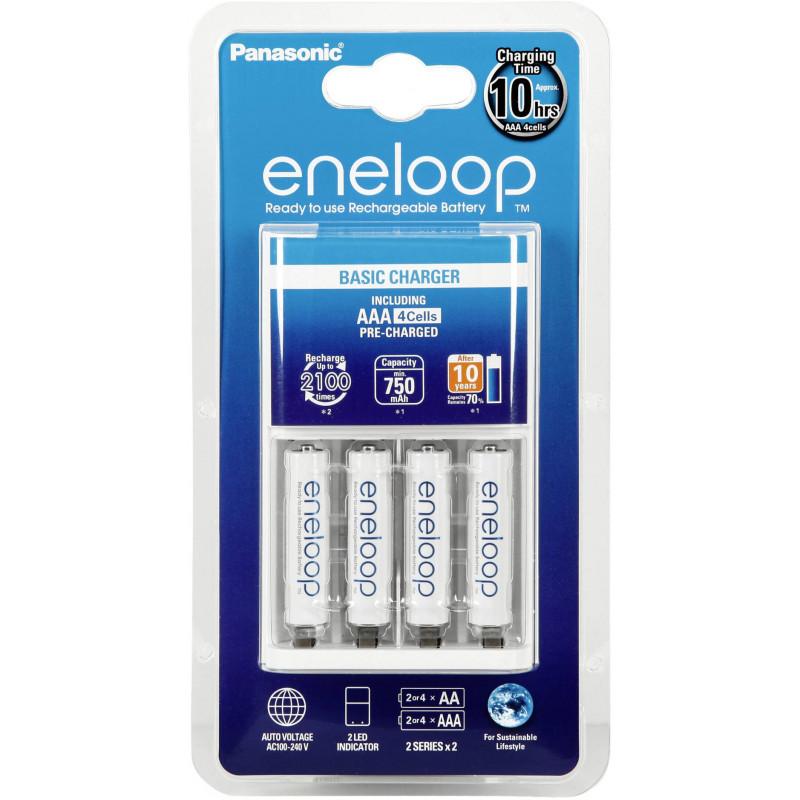 Panasonic eneloop charger BQ-CC51E + 4x750