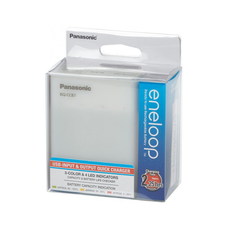 Panasonic eneloop laadija BQ-CC87USB + 4x1900