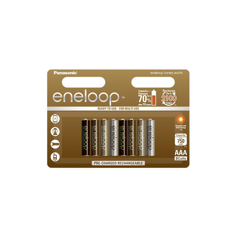 Panasonic eneloop аккумулятор AAA 750 8UE Earth