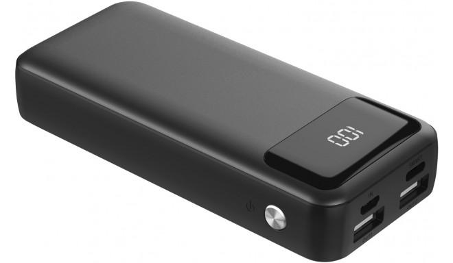 Platinet akupank 10000mAh LCD USB-C, must