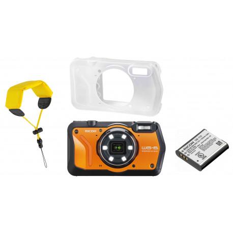 Ricoh WG-6 Kit, оранжевый (дополнительный аккумулятор + футляр + плавучий ремень на руку)