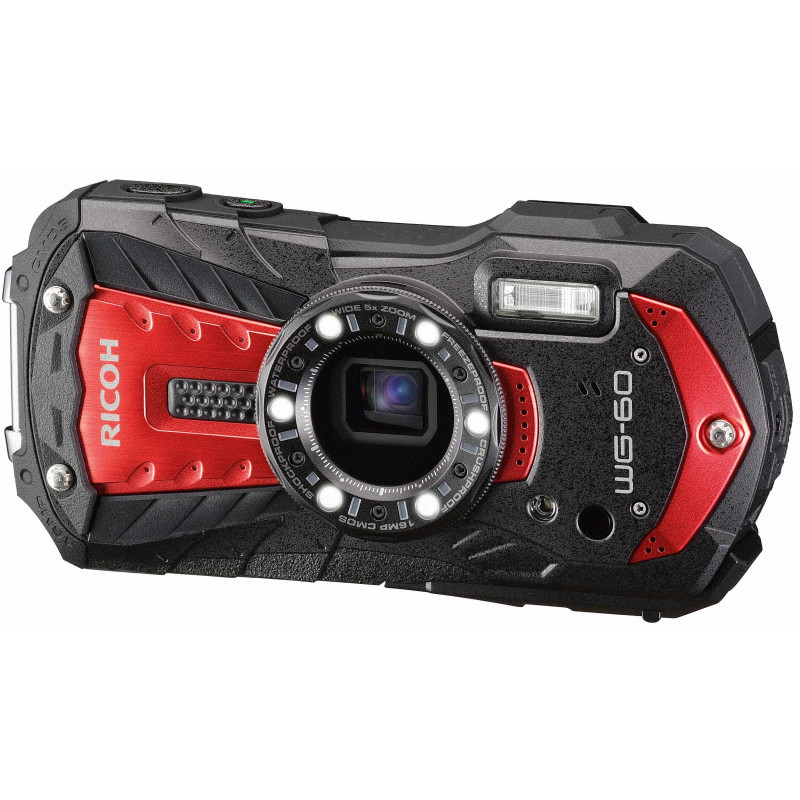 Ricoh WG-60 Kit, red (extra battery + protector jacket + floating strap)