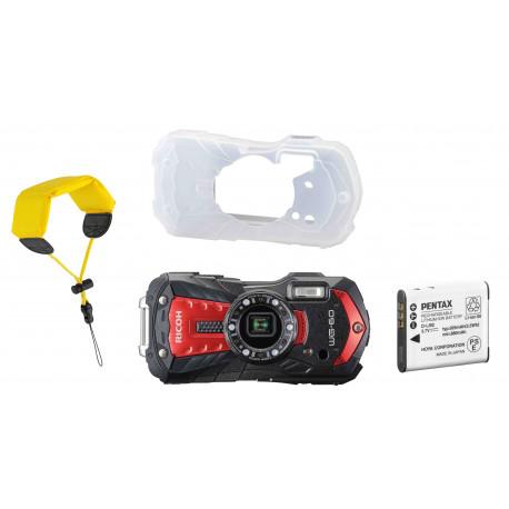 Ricoh WG-60 Kit, красный (дополнительный аккумулятор + футляр + плавучий ремень на руку)