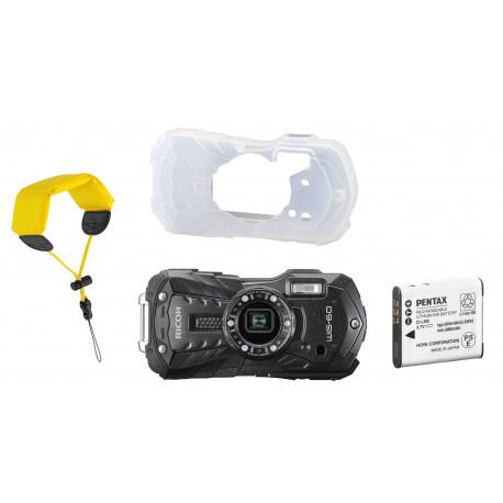 Ricoh WG-60 Kit, melns (rezerves akumulators+ aizsargapvalks + peldošā siksna)