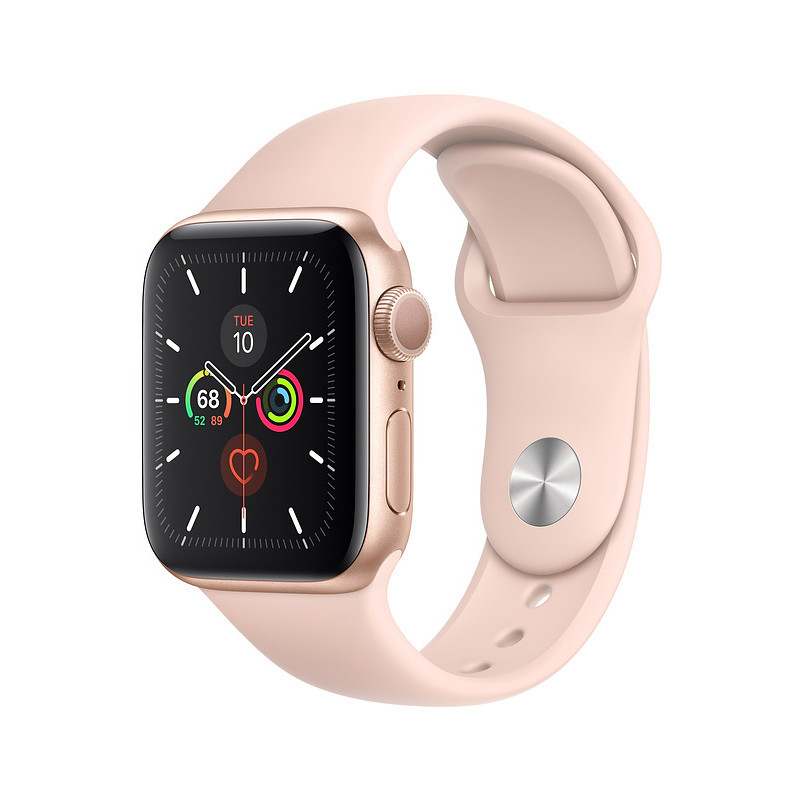 Apple Watch 5 GPS 40mm Sport Band, gold/pink sand