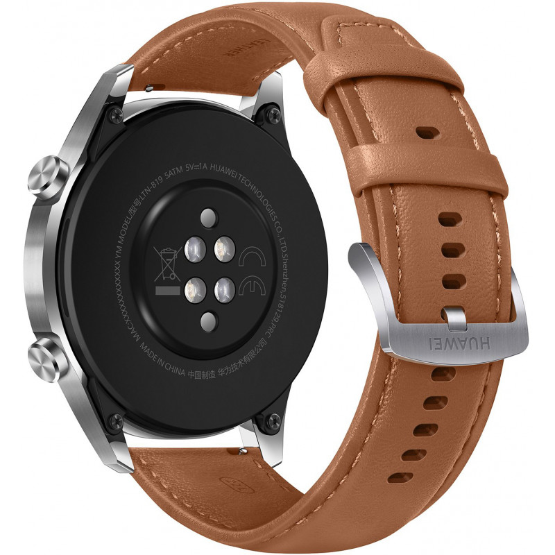 Huawei Watch GT 2 46mm, brown leather